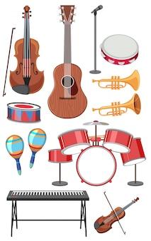 Conjunto de instrumentos musicais