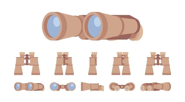 Conjunto de instrumentos ópticos binóculos