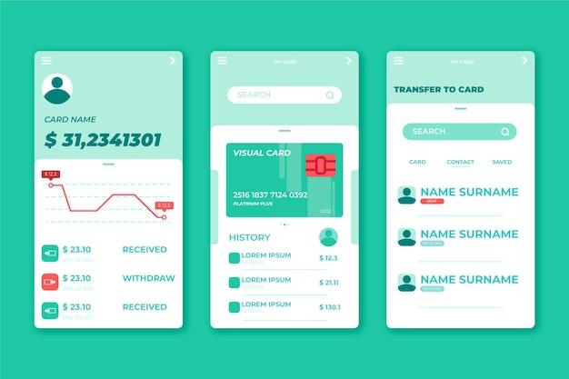 Conjunto de interfaces de aplicativos bancários