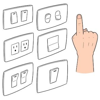 Conjunto de interruptor elétrico