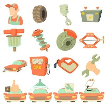 Conjunto de itens de reparação de automóveis