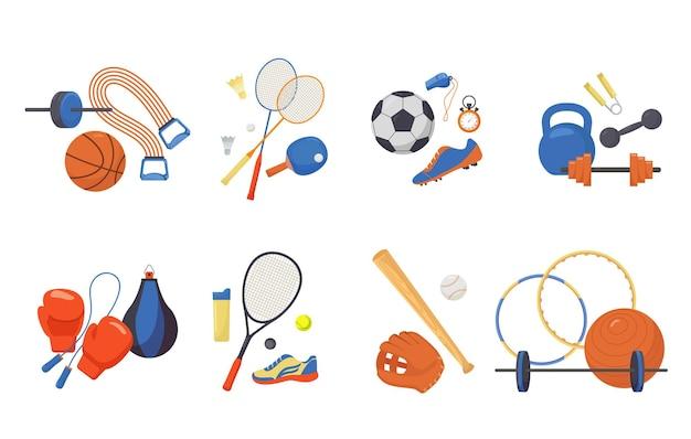 Conjunto de itens esportivos