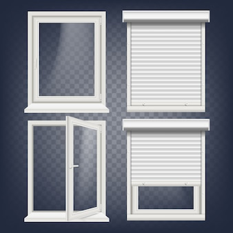 Conjunto de janelas de plástico pvc