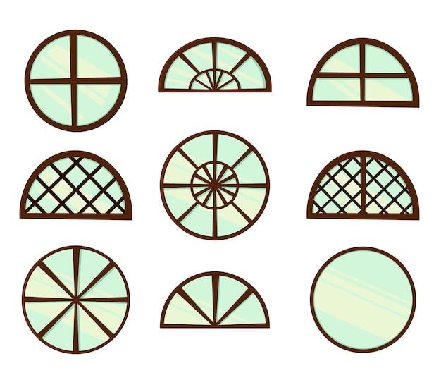 Conjunto de janelas para design isolado no branco