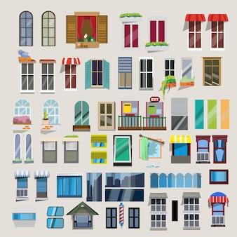 Conjunto de janelas.