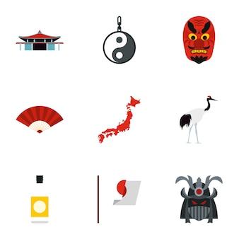 Conjunto de japão, estilo simples