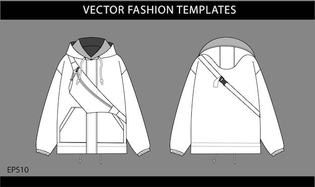 Conjunto de jaquetas brancas com bolsa