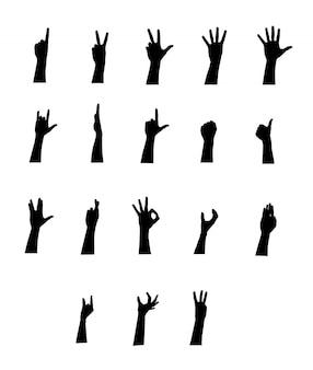 Conjunto de jestures de vetor de braço