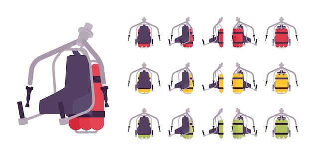 Conjunto de jet pack