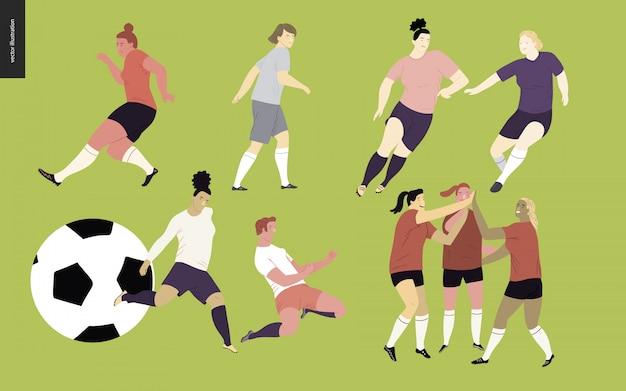 Conjunto de jogadores de futebol de futebol europeu