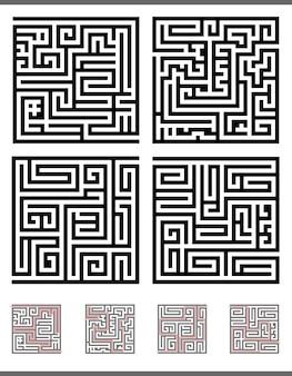 Conjunto de jogo de labirinto