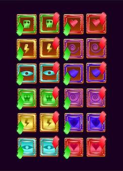 Conjunto de jogo ui geléia de madeira com energia mágica