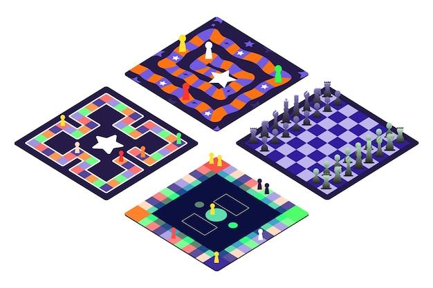 Conjunto de jogos de tabuleiro para diversão