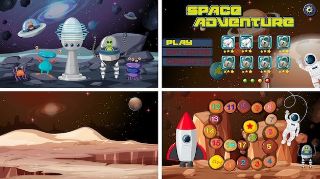Conjunto de jogos espaciais