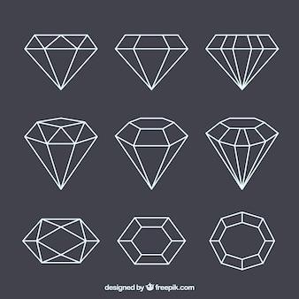 Conjunto de jóias lineares