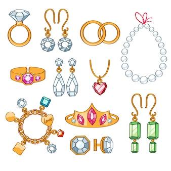 Conjunto de joias.