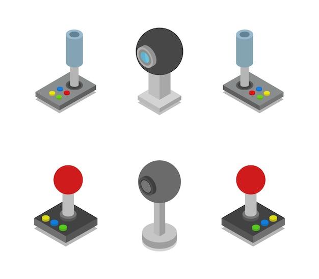Conjunto de joystick e web cam