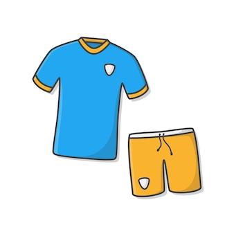 Conjunto de kit de futebol ou camisa de futebol