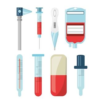 Conjunto de kit de primeiros socorros com exames de diagnóstico