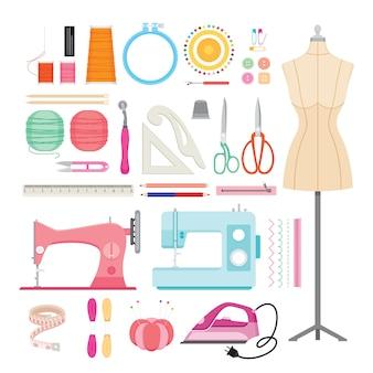 Conjunto de kits de costura, ferramentas de costura e acessórios