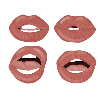 Conjunto de lábios sexy