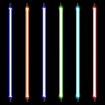 Conjunto de lâmpada de néon