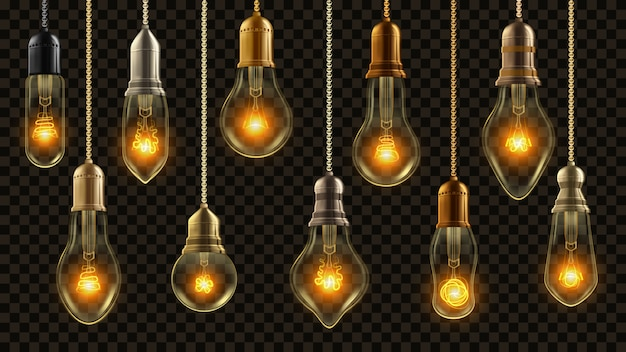 Conjunto de lâmpada vintage