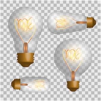 Conjunto de lâmpadas de sotão.