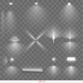 Conjunto de lâmpadas diferentes
