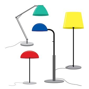 Conjunto de lâmpadas Lâmpadas de assoalho de móveis