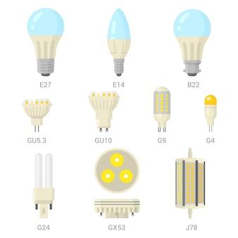 Conjunto de lâmpadas led