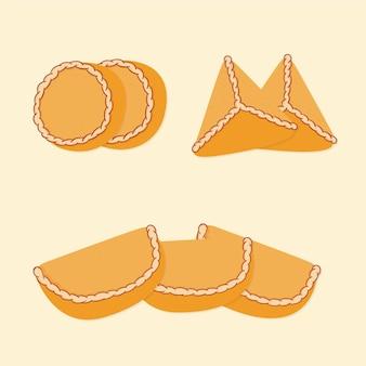 Conjunto de lanche delicioso empanada espanhola