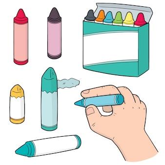 Conjunto de lápis de cor