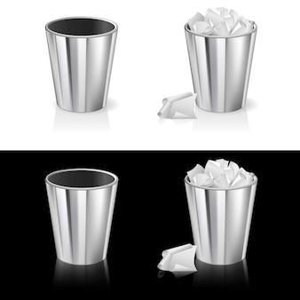 Conjunto de lata de lixo