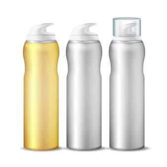 Conjunto de lata de spray realista