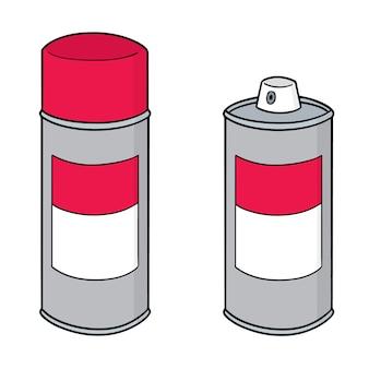 Conjunto de lata de spray