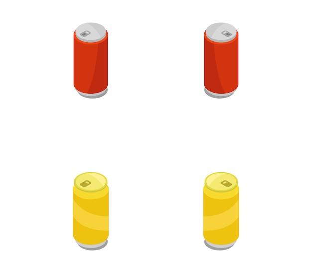 Conjunto de latas isométricas