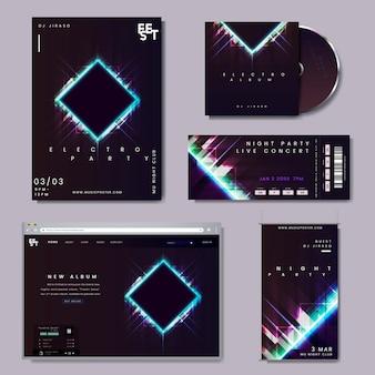 Conjunto de layout promocional