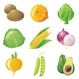 Conjunto de legumes