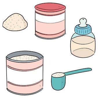 Conjunto de leite em pó