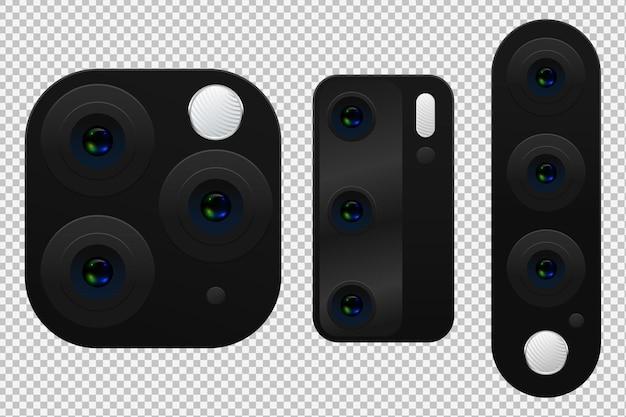 Conjunto de lentes de câmera de smartphone