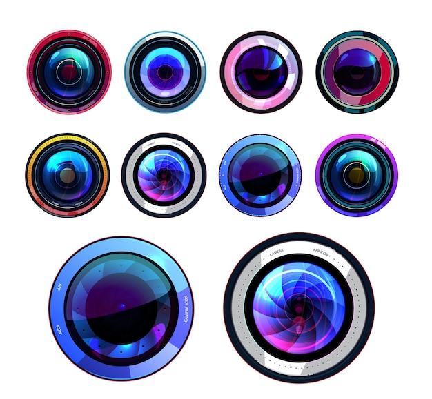 Conjunto de lentes de câmera