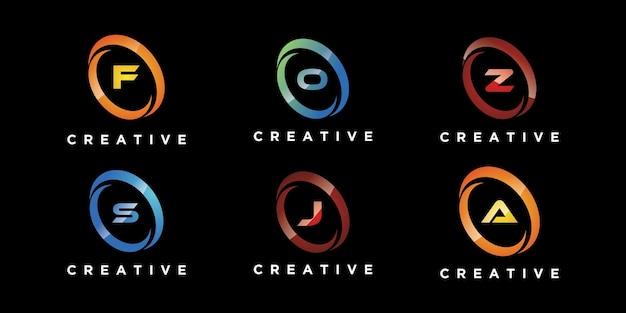 Conjunto de letras de design de logotipo