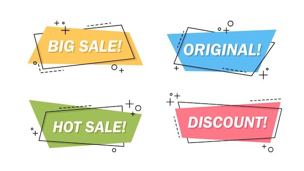 Conjunto de letras de venda