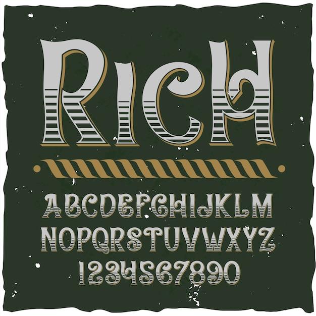 Conjunto de letras diferentes