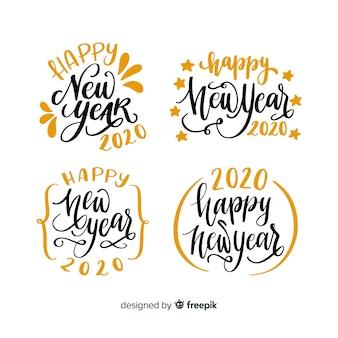 Conjunto de letras do ano novo 2020