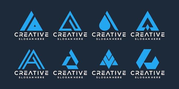 Conjunto de letras e design de logotipo