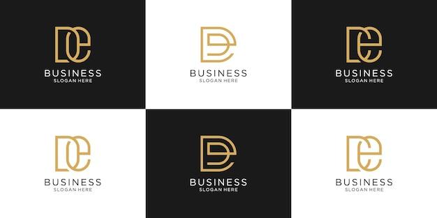 Conjunto de letras iniciais abstratas para o modelo de logotipo