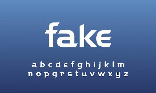 Conjunto de letras minúsculas de alfabeto fonte abstrata moderna