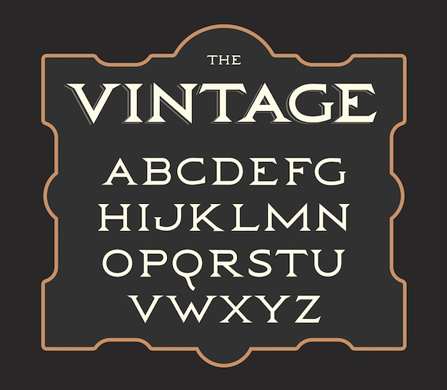 Conjunto de letras vintage.